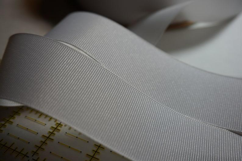 White Matte Finish Grosgrain Ribbon  1 1/2 inch width For image 0