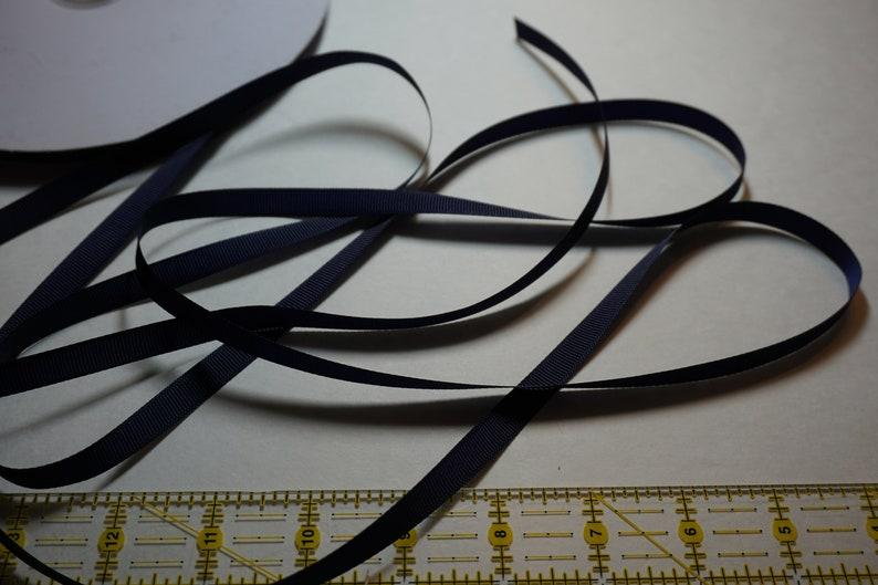 Light Navy Matte Finish Grosgrain Ribbon  3/8 inch width For image 0