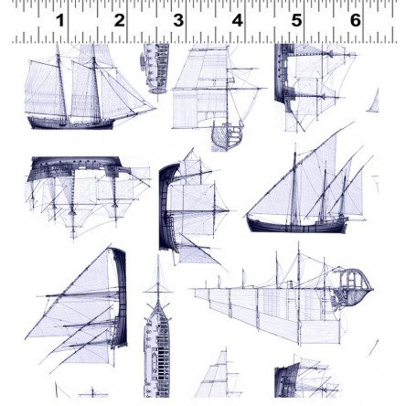 Quarter Deck by ClothWorks  Nautical  Sailing Ships sold by image 0