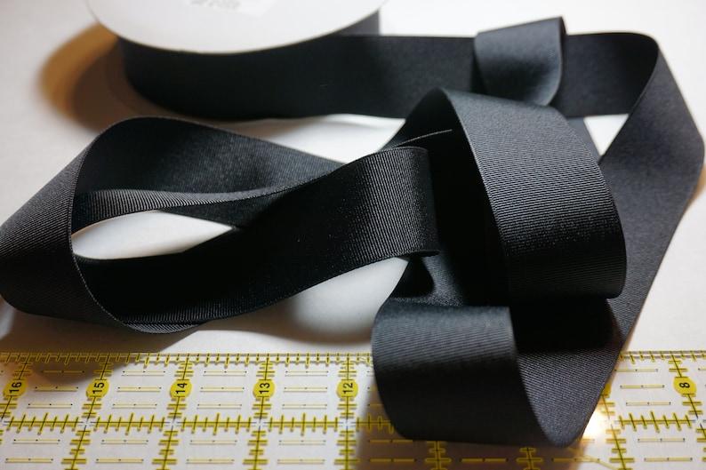 Black Matte Finish Grosgrain Ribbon  1 1/2 inch width For image 0