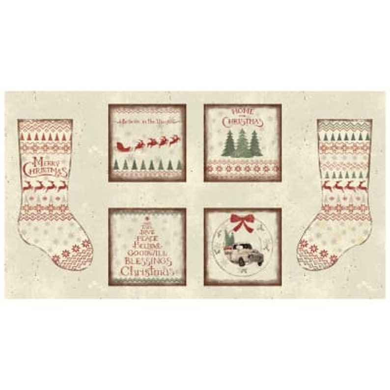 Home For Christmas by ClothWorks 100% Cotton Christmas image 0