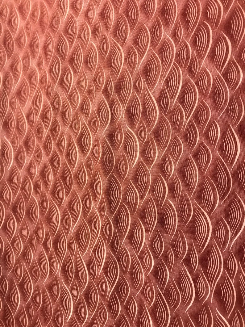 Pink Scalloped-Look Fabric 100% Cotton sold by the yard image 0