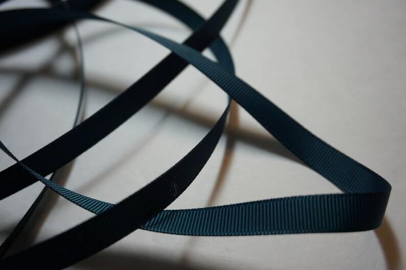Teal Matte Finish Grosgrain Ribbon  3/8 inch width For Hair image 0