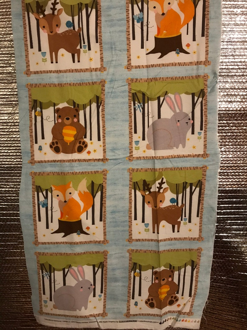 Forest Friends Fabric Panel sold as a single panel 21 image 0