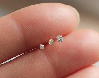 Teeny tiny micro crystal diamond stud