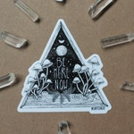 4x4 Art Sticker - Galaxy Mushroom Nature Illustration
