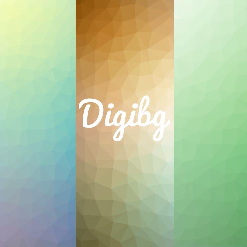 Sfondi Verde Confezione Da 3 Sfondo Sfumato Carta Digitale Etsy