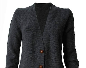 100 % cachemire Cardigan anthracite Chunky