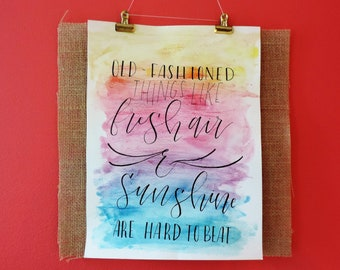 Calligraphy and Watercolor Originals by Emme