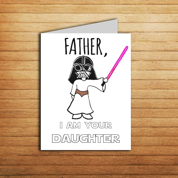 Dad Christmas Gifts From Daughter: Star Wars Card Christmas Card For Dad Gift From Daughter