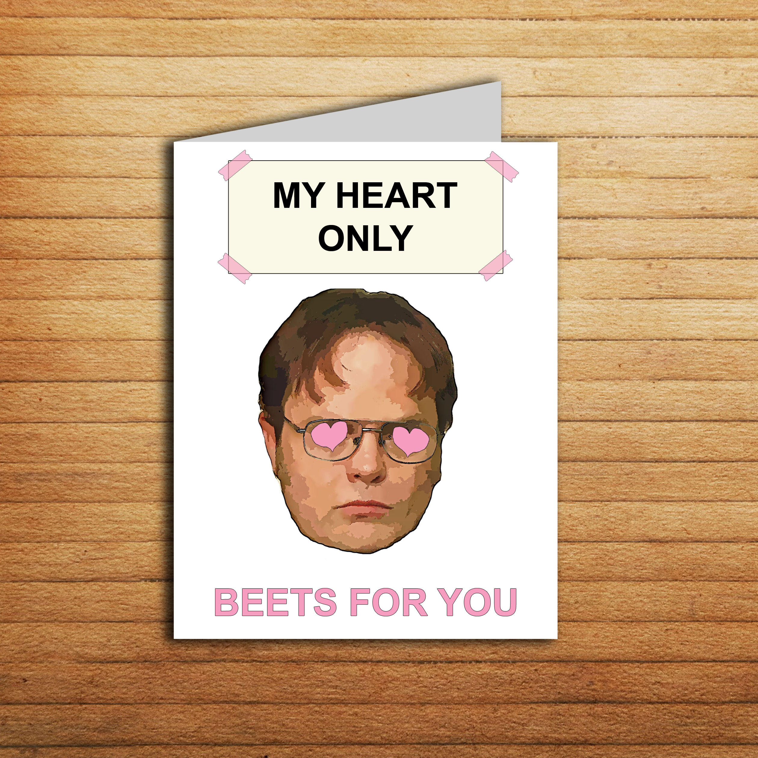 The Office Anniversary Card Dwight Schrute Card Beet Funny Etsy