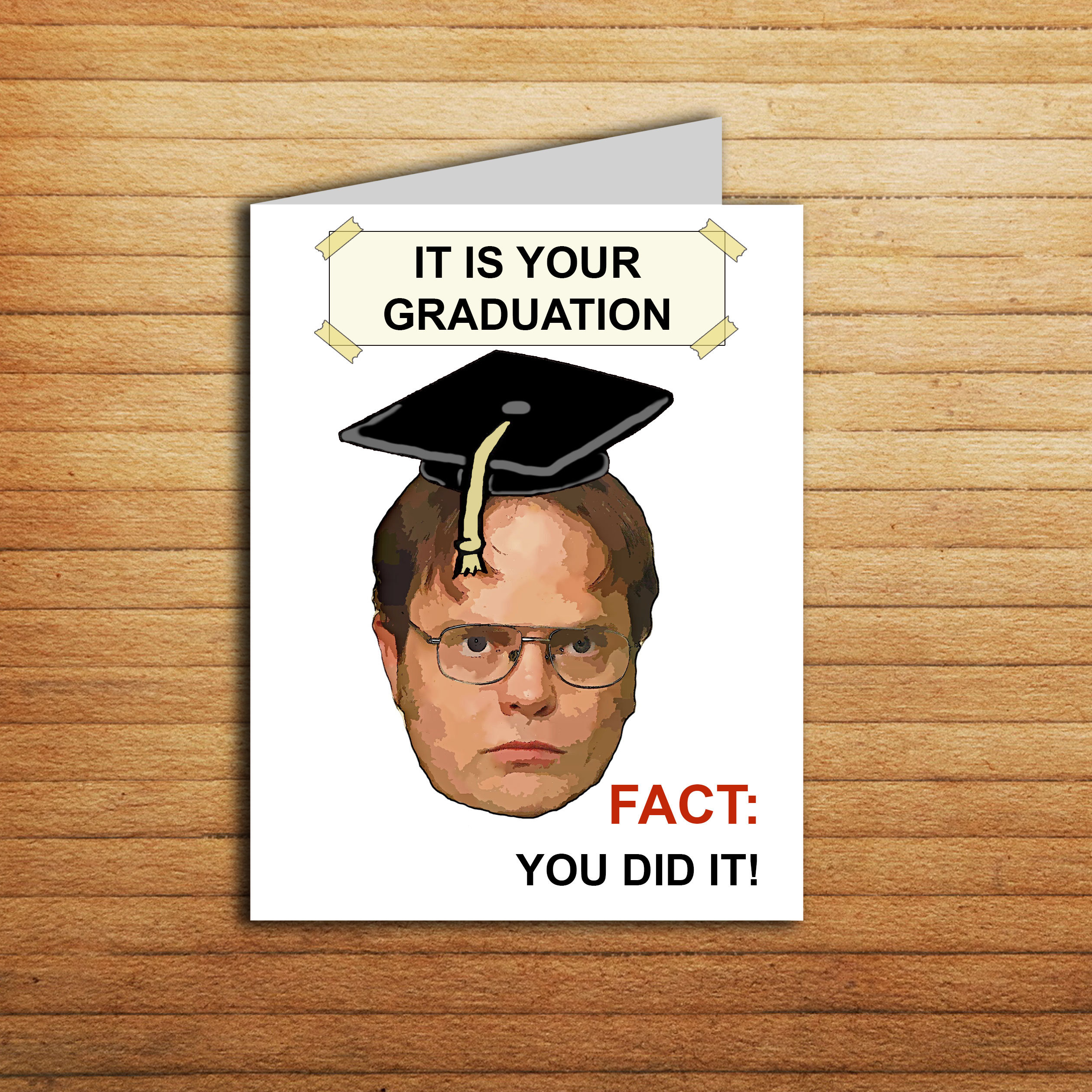The Office Graduation Card Printable Funny Dwight Schrute ...