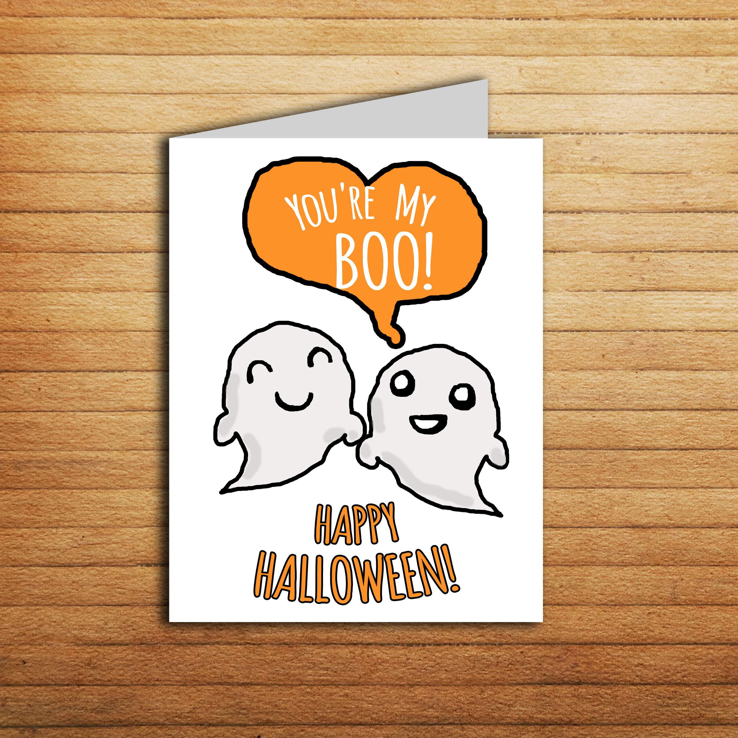 Youre My Boo Halloween Card For Boyfriend Halloween Etsy