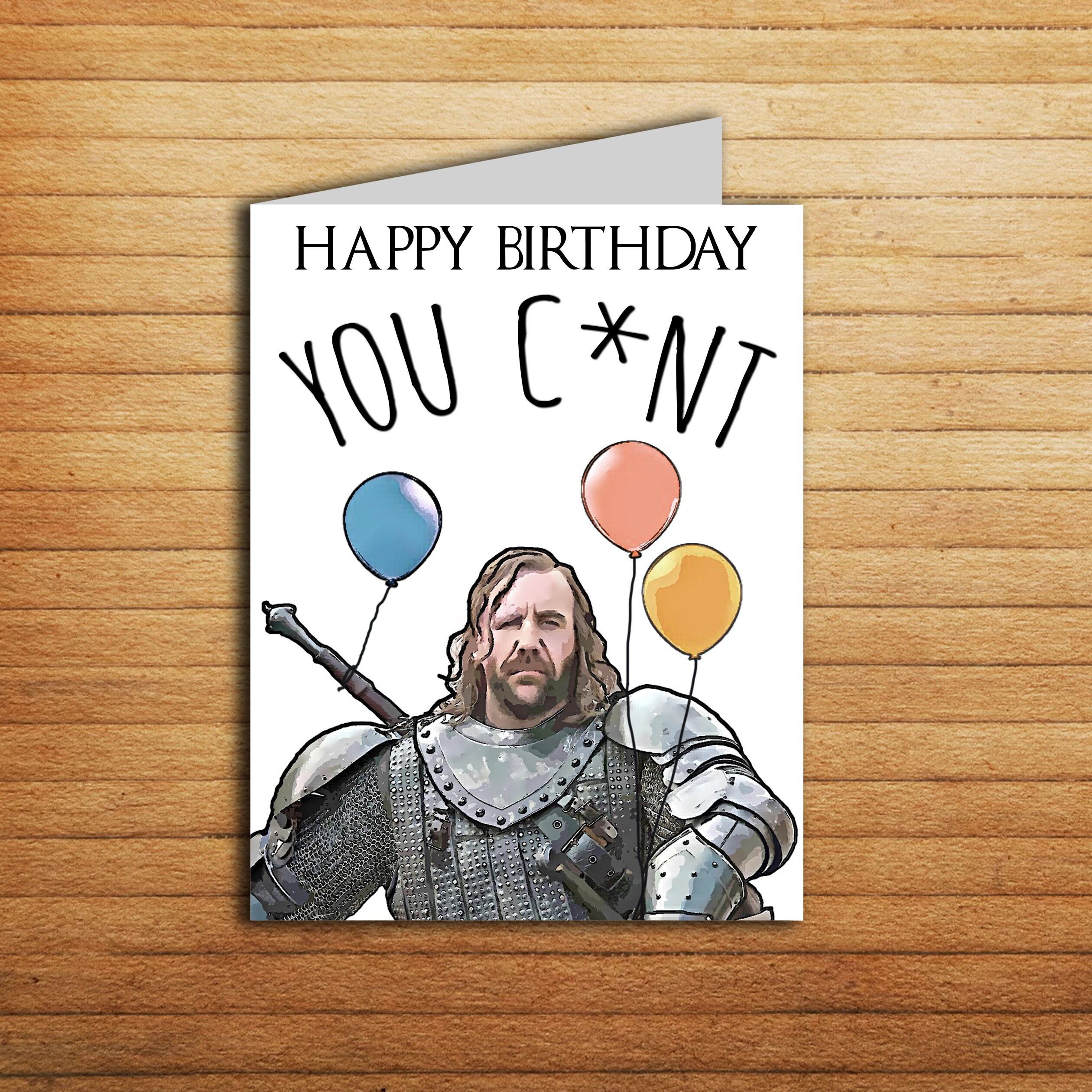 Game Of Thrones Birthday Card The Hound Printable Funny