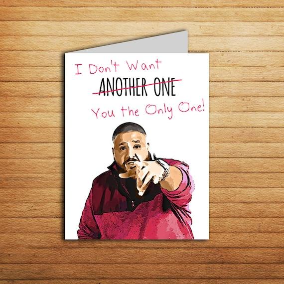 Dj Khaled Valentines Card Funny Birthday Card Card For Etsy