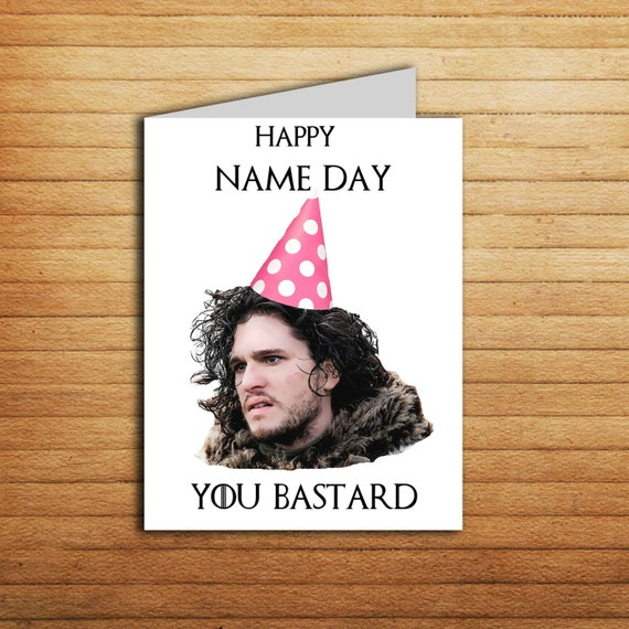 Game Of Thrones Card Birthday Printable