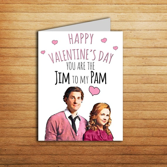valentine u0026 39 s day card the office us funny jim and pam