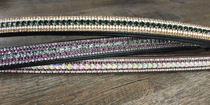 Mega bling 5 row crystal brow band