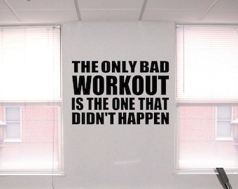 Workout quote etsy
