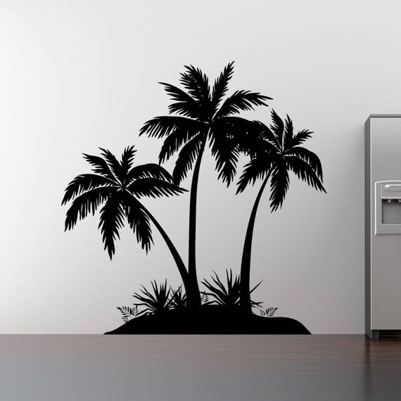 Palm Tree DecalHawaiian decalBeach decorVinyl Sticker /& Wall Decals