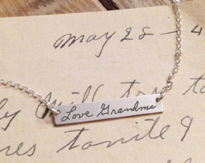 Handwriting Sterling Silver Necklace - MY HANDWRITING - Extraordinary gift idea - Personalized Touch - Perfect Gift for Mom - Gold filled