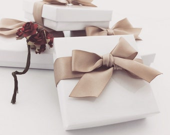 Gift Box, Gift Wrap Upgrade - Choose your color, White Box with Lid, Holiday Gifts -NOT SOLD SEPARATELY-