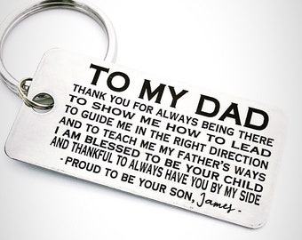 TO MY DAD - Keychain- Customize Your Design - Handwriting Option - Perfect Father's Day Gift - Laser engraved - For Him - Etsy Trend