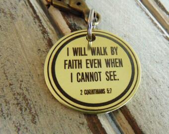 Bible Verse Custom Brass Keychain - Necklace Option , custom keychains, personalized key chain, keychain for him, keychain for her, keys