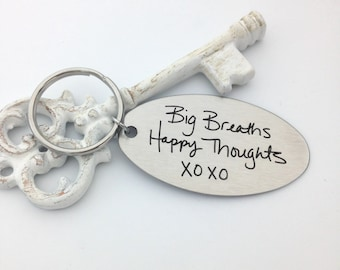 Handwritten Key Chain, Your Handwriting keychain - or font, personalized key chain, keychain for him, keychain for her, personalized, Christ
