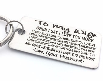 TO MY Wife - Keychain- Customize Your Design - Handwriting Option - Perfect Anniversary Gift - Laser engraved - For Her - Etsy Trend
