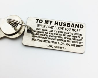 TO MY HUSBAND - Keychain- Customize Your Design - Handwriting Option - Perfect Valentine's Day Gift - Laser engraved - For Him - Etsy Trend
