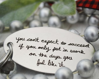 Handwritten Key Chain, Motivational Reminder - Succeed!! personalized key chain, keychain for him, keychain for her, personalized, Christ