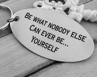 Positive Vibes Key Chain, Your Handwriting keychain - or font, personalized & custom key chains- Encouraging Gifts for any occasion
