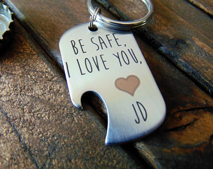 Bottle Opener Dog Tag - Key Chain or Ball Chain - Your Handwriting _ or Desgin _ or Custom Font Text - Laser Engraved - Stainless Steel Tag