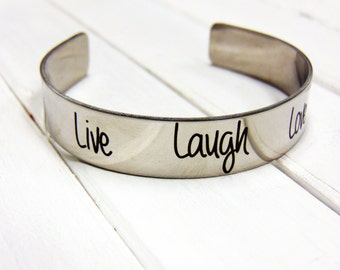 Handwritten Stainless Steel Cuff Bracelet- YOUR HANDWRITING - your text, your design,  - Perfect For Layering -Jewelry For Her