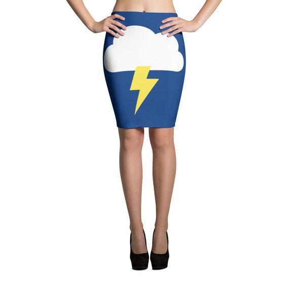 info for 12bf6 62461 Blaue Bleistiftrock, Damen Röcke, Pencil-Skirts für Frauen, Frauen-Rock,  Womens Bleistift Rock, Wolke Rock, Wetter-Rock, Damenmode