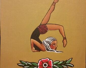 Sophia- Circus Girl Contortionist Original Art