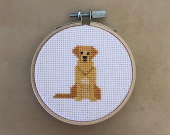 Golden Retriever Cross Stitch Pattern