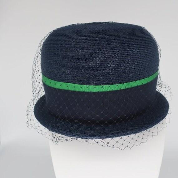 Evelyn Varon Vintage 1950s Bowler Hat, Church Hat,