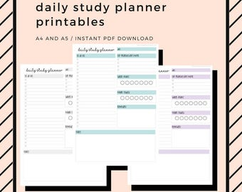 2018 student planner printable pack a4 and a5 high school etsy