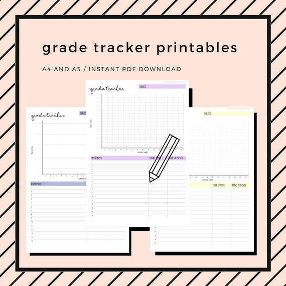 It's just a graphic of Grade Tracker Printable for exam