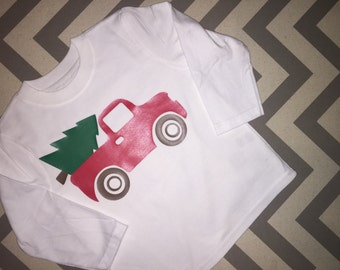 Kids Christmas Shirt Ready to Ship! Just add name in notes section!
