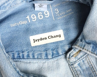 Iron on labels Back to school labels Iron on tags Custom clothing labels Uniform labels Personalized iron on clothing name tags Labels