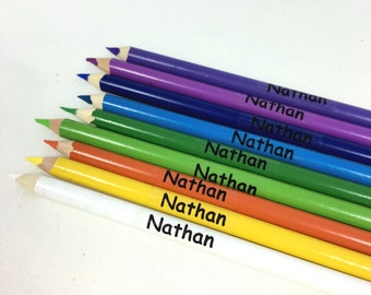 Clear labels Transparent Labels School name labels Name stickers Personalized pencil labels kids labels custom clear sticker office labels