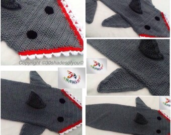 39406637f1e5b4 Beautiful handmade shark blanket..... Perfect gift