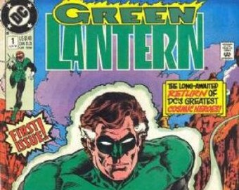 5 Green Lantern comic books - 1990's DC Comic books - Vintage Green Lantern comic lot of 5 - Issue # 1 thru 4 and 8