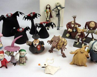 nightmare before christmas jack skellington pvc figurine boxset 2 different new rare tim burton halloween movie jun planning disney toy - Nightmare Before Christmas Action Figures