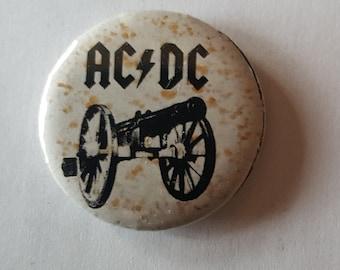 ACDC AC-DC Enamel Lapel Pin Badge POP MUSIC HEAVY METAL BAND Yellow