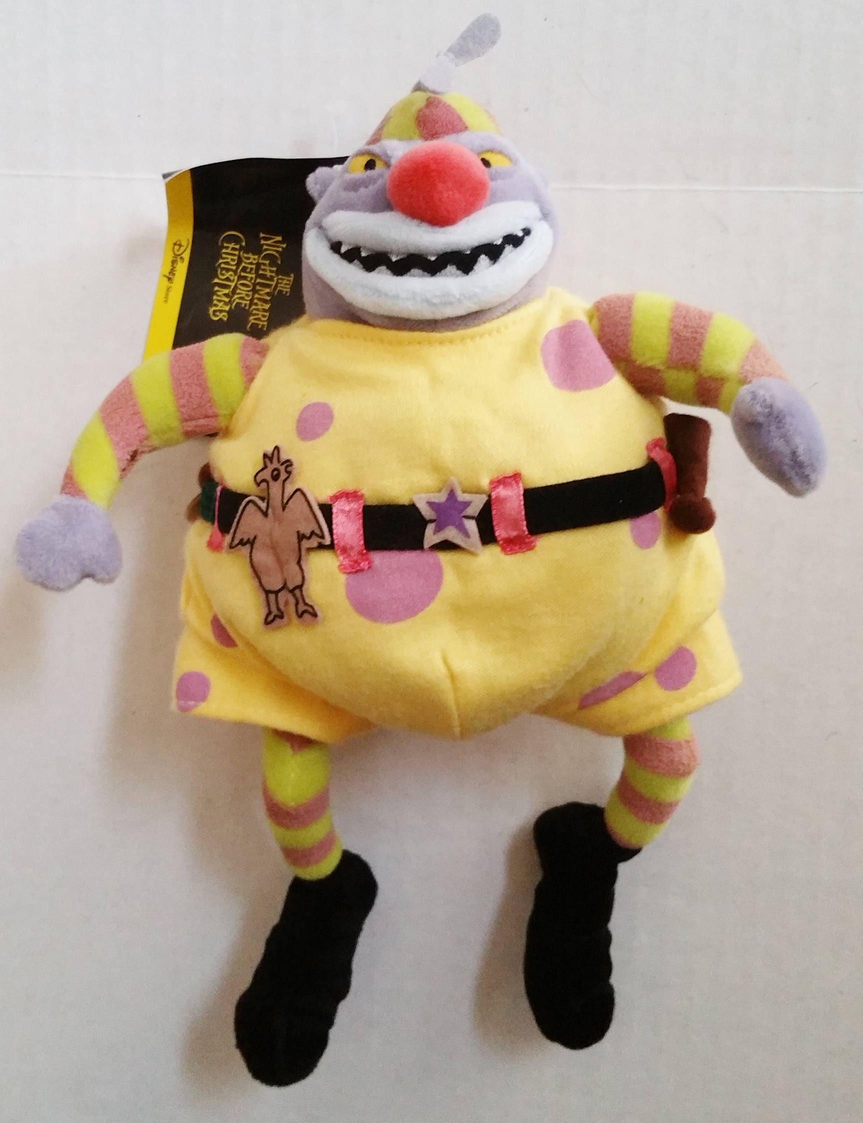 NIGHTMARE BEFORE CHRISTMAS Doll Clown Plush 1993 12 Bean | Etsy