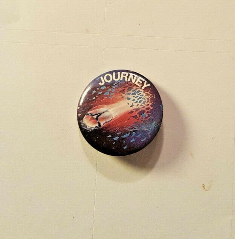 JOURNEY Escape Pinback Button 1.25 Rare 1981 Classic Rock Vintage Badge Collectable Classic Rock Steve Perry Santana Boston